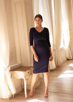 Платье темно-синее футляр
