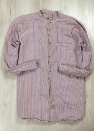 Без предоплаты! приталенная рубашка без воротника watsons ватсонс полоска размер l-xl