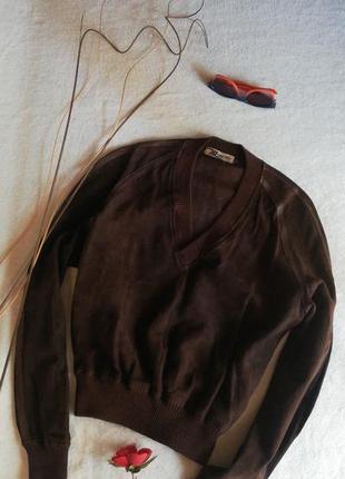 Шикарный кожаный джемпер куртка  натуральная кожа 100%