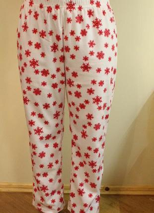 Флисовые пижамные штаны, штанишки для дома,пижама на размер м