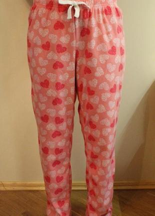 Флисовые пижамные штаны, штанишки для дома,пижама на размер xl