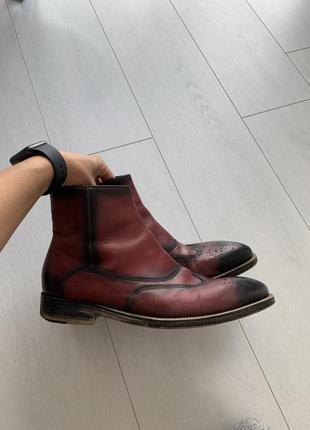 Мужские винтажные ботинки челси denis. ручная работа