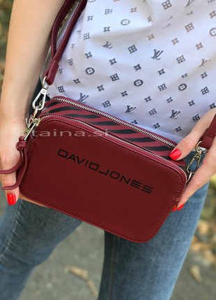 Сумка кросс боди бордовый клатч david jones 6169-1 оригинал повседневная сумочка