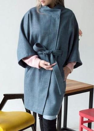 Новое кашемировое пальто-кимоно