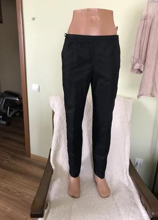 Класические брюки цвета мокрого асфальта италия.