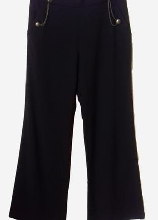 Широкие брюки с высокой талией, осень-зима