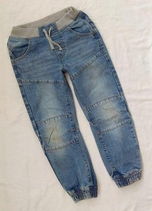 Джинсы, 7-8 лет, джегенсы, джоггеры, джинсовые брюки на резинке
