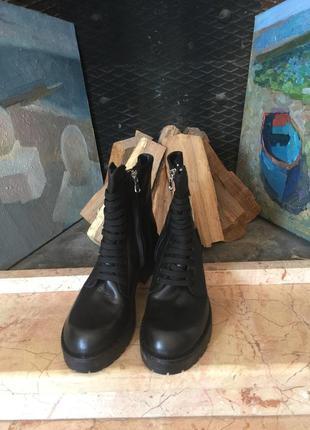 Garrice супермодные кожаные ботинки р.38-39 италия