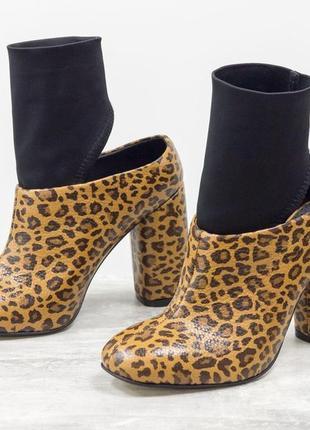 Кожаные эксклюзивные ботинки с дайвингом