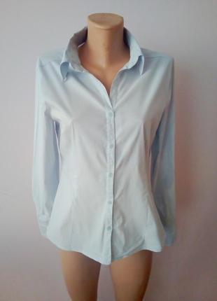 Нарядная офисная рубашка в полоску