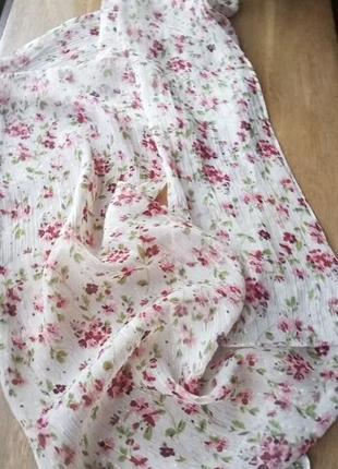 Нежнейший шелковый шарфик цветочный принт с люрексом от accessorize