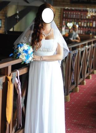 Элегантное свадебное платье в греческом стиле