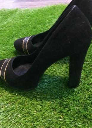 Шикарные туфли замша