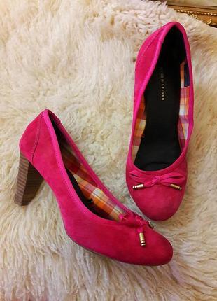 Розовые замшевые туфли #tommy hilfiger #оригинал