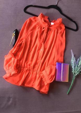 Шикарная коралловая блуза h&m