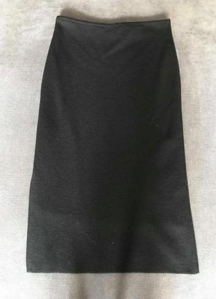 Итальянская шерстяная прямая юбка макси sarah pacini made in italy