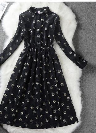 Вельветовое платье, платье на осень, вельвет