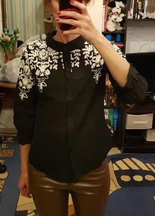 #розвантажуюсь шикарная блуза с вышивкой6 фото