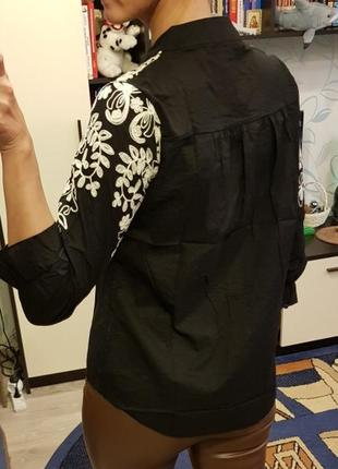 #розвантажуюсь шикарная блуза с вышивкой5 фото
