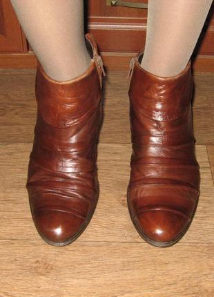 Весенние кожаные ботиночки бренда everybody (италия), демисезонные, р. 36-37