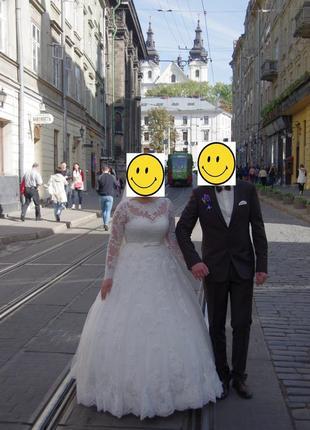Весільна сукня принцеси.
