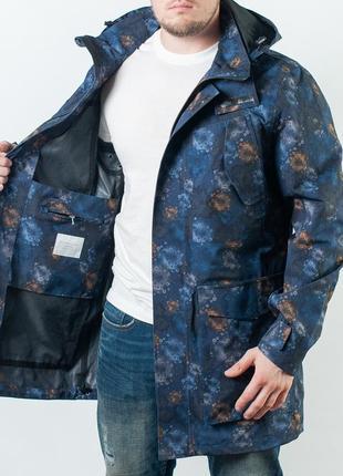Мужской куртка на гортексе selected homme arnold printed jacket