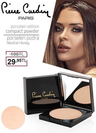 Pierre cardin porcelain edition compact powder - пудра - нейтральный медовый