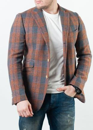 Мужской шерстяной кэжуальный пиджак scapa slim fit