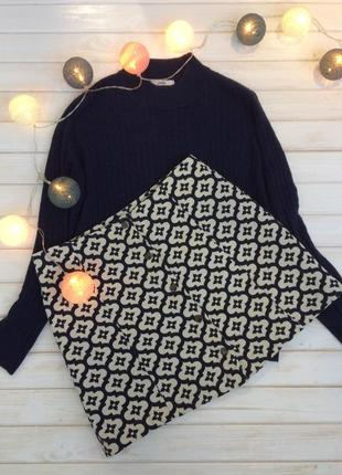 Жаккардовая юбка з пуговицами topshop