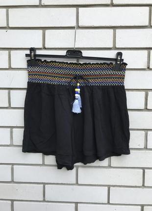 Легкие,штапельные,вискоза шорты,летние,домашние,вышивка,этно,бохо стиль,большой размер