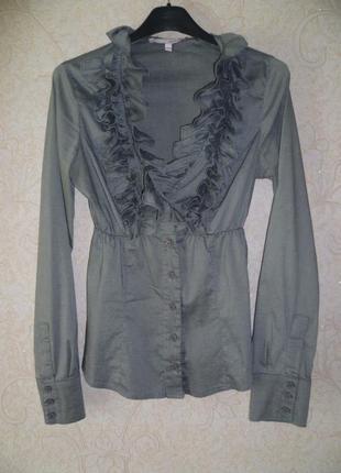 Блуза, блузка, рубашка с рюшами, сорочка tally weijl