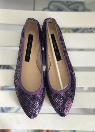 Італійський бренд tollegno 1900 балетки/ туфли новие/нові шкіра/кожа