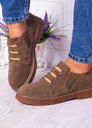 Стильные туфельки экозамш