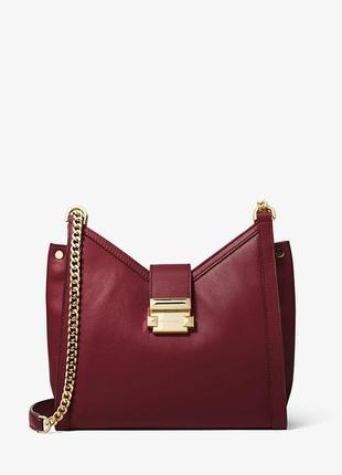 Оригинал бордовая сумка whitney бренда michael kors