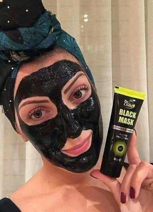 Угольная маска пленка для лица black mask от черных точек  dr.tuna фармаси