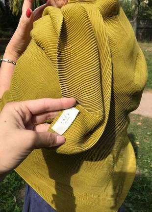 Шикарный оливковый платок палантин   yaya women оригинал loro piana