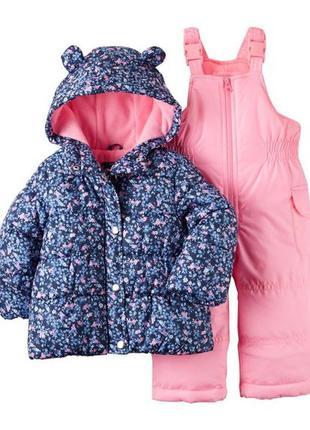 Комбинезон 2в1 зимний для девочки картерс (куртка+штаны) в наличии
