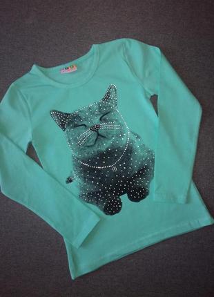 Кофта реглан для девочки кот