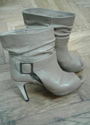 Ботильоны ботинки туфли натур кожа