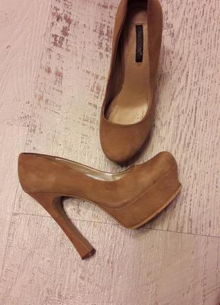 Крутые нюдовые замшевые туфли на платформе😍😍😍👌👍👍👍