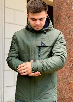 Зеленая осенняя куртка