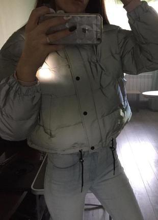 Куртка рефлективная светоотражающая серая оверсайз2 фото