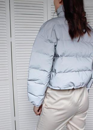 Куртка рефлективная светоотражающая серая оверсайз3 фото
