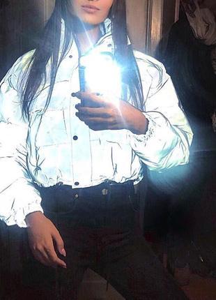 Куртка рефлективная светоотражающая серая оверсайз4 фото