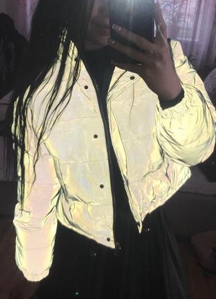 Куртка рефлективная светоотражающая серая оверсайз5 фото