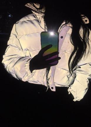 Куртка рефлективная светоотражающая серая оверсайз6 фото
