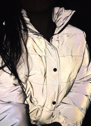 Куртка рефлективная светоотражающая серая оверсайз7 фото