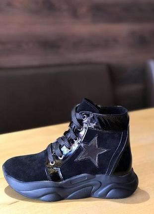 Кожаные деми ботинки сапожки для девочек4 фото