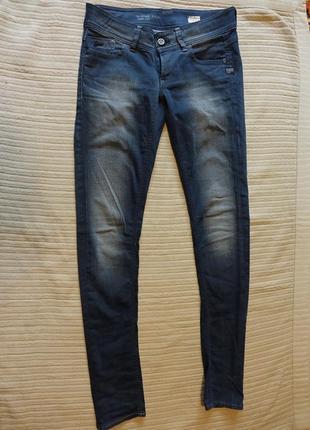 Отличные темно-серые узкие джинсы - бедровки g-star raw голландия 29/34
