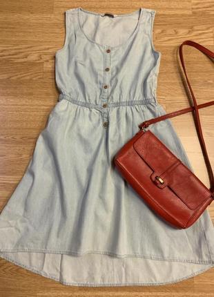 Фирменное джинсовое платье с кружевом love denim,платьице из натуральной ткани+подарок